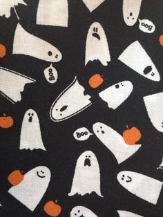 Halloween fabric in 5 different prints by 2Heartsstudio on Etsy, $13.50