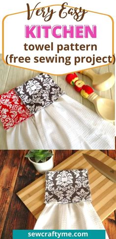 Easy Hanging Kitchen Towel Pattern - Sew Crafty Me