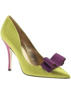 Kate Spade lime green and purple shoes