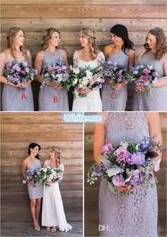 Lilac Full Lace Short Bridesmaid Dresses Sheath Crew Neck Sheath Zipper 2016 Sexy Cheap Summer Beach Wedding Maid Of Honor Gowns Party Dress Lime Green Bridesmaid Dresses Long Black Bridesmaid Dresses From Whiteone, $90.89  Dhgate.Com