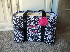 f9902db7cabe Another awesome use for our Organizing Utility Tote...a mobile office! Love