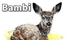 How to draw Bambi in Pen and Ink - Online Art Lessons