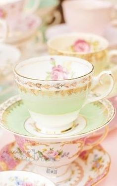 Some more gorgeous tea cups for the decadent tradition of English Afternoon Tea