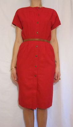 Vintage Mod Red Dress by PrudenceandAustere on Etsy, $40.00