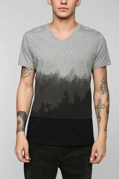 Tee Library Ombre Forest Tee - good idea, badly executed