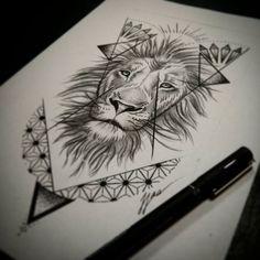 dotwork lion geometric - Google Search