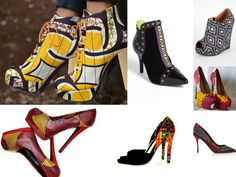 www.cewax.fr aime ces chaussures en tissu africain wax style ethnique afro tendance tribale