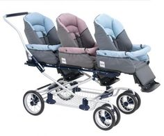 Thought this was a great pram for triplets, instead of having the three seats next to one another. Bit different and I think it works well