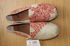 Custom Painted Henna Shoes by Conncept on Etsy, $75.00