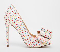 dotty shoes with bow