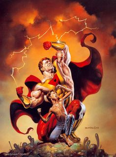 Prime by Boris Vallejo. This original piece of fantasy art by Boris Vallejo is currently available for purchase. Dark Fantasy Art, Fantasy Artwork, World Of Fantasy, Fantasy Posters, Boris Vallejo, Julie Bell, Comic Books Art, Comic Art, Bell Art