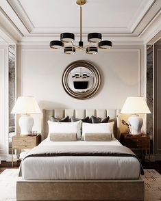 Trendy bedroom hotel classic home Master Bedroom Design, Home Decor Bedroom, Modern Bedroom, Hotel Bedroom Design, Bedroom Designs, Luxury Master Bedroom, Bedroom Ideas, Modern Condo, Bedroom Classic