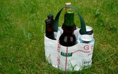 cute idea for left over grain sacks from breweries