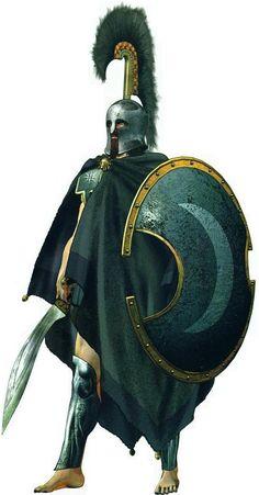 Greek warrior crescent