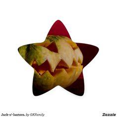 Jack-o'-lantern. Star Sticker