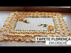 Caminho de mesa de crochê | Coral - JNY Crochê - YouTube