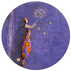 "Magnet Gaëlle Boissonnard - ""Frau mit Pusteblume"""