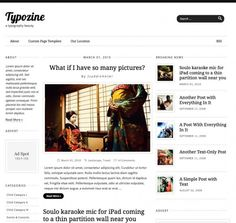 WordPress Premium Theme with minimalist design and typography-rich. Best suits for magazine sites that focus on contents and advertisements more than others.