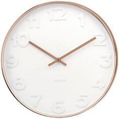 Mr White Numbers Copper Clock - Large - copper clock - Karlsson