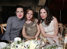 Charlotte and Tatiana Casiraghi attend the Ralph Lauren dinner