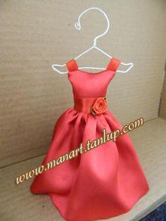 Mini Vestido para Lembrancinhas de 15 anos www.manart.tanlup.com