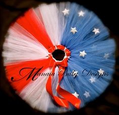 4th of July Tutu by ManaiaBabyDesigns on Etsy, $15.00