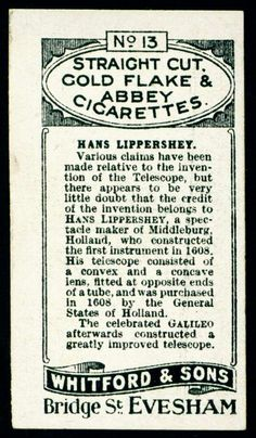 Cigarette Card Back - Whitford's Straight Cut | Flickr - Photo Sharing!