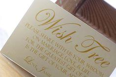 wedding wishing tree ideas | Wedding Wish Tree Tag Sign by leslienashdesigns on Etsy