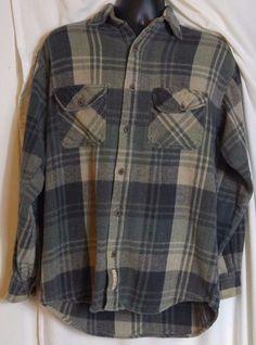 C.E. Schmidt Workwear. Men's. Cotton. Multi color, plaid, shirt, Size Medium. #Schmidt #ButtonFront