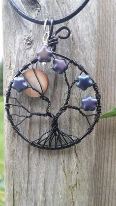 Tree of Life pendant, Moon and Stars
