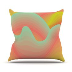 "Akwaflorell ""Way of the Waves"" Throw Pillow"