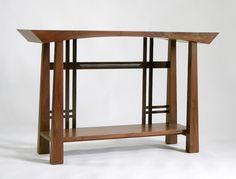 Masamune Japanese style custom entry table. Asian inspired custom table designed by Franklin Street Furniture.