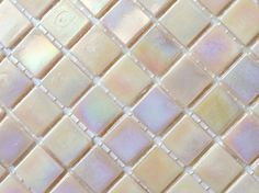 """25 3/4"""" Blush Pink Iridescent Glass Mosaic Tiles// Pink Opalescent Tiles// Abalone Pink Tiles//Mosaic Supplies//Craft Supplies"""