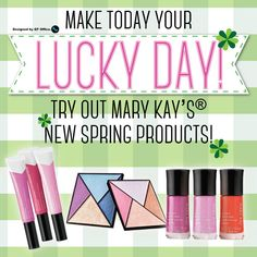 You don't have to be Irish to get lucky with the new products. Promotion Ideas, Lucky Day, Abh, Mary Kay, St Patrick, Irish, Eyeshadow, Business, Spring