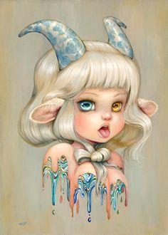 Interview with comic artist Camilla d'Errico. Art Drawings Sketches, Cool Drawings, Drawing Faces, Capricorn Art, Grunge Art, Zodiac Art, Creepy Art, Kawaii Art, Psychedelic Art