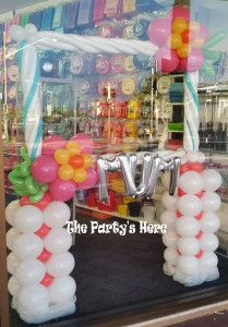 Photobooth Frame with Balloons for Mother's Day. Can be custom made for any theme or occasion.