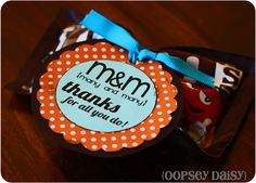 candy bar tags, pdf by oopseydaisy, M many and many thanks for all you do Staff Gifts, Volunteer Gifts, Teacher Appreciation Gifts, Teacher Gifts, Volunteer Appreciation, Parent Gifts, Student Gifts, Candy Quotes, Candy Sayings