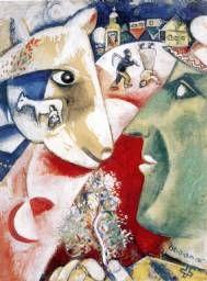 Marc Chagall. Moi et le village (Yo y la aldea), 1911 Öffentliche Kunstsammlung Basel, Kupferstichkabinett.Donación Trix Dürst-Haas, Muttenz