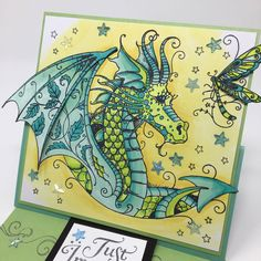 Paper Wishes Weekly Webisodes scrapbooking videos and card making videos feature a new and different paper crafting technique each week from the comfort of your own computer! Birthday Cards For Friends, Birthday Cards For Women, Lavinia Stamps Cards, Dragon Pattern, Dragon Crafts, Ink Stamps, Card Making Techniques, Animal Cards, Die Cutting