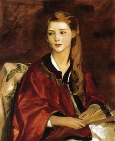 The beautiful Beatrice Whittaker, painted by Robert Henri in 1919.