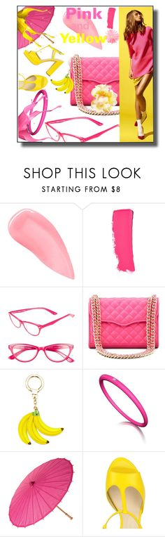 """When pink met yellow"" by mariahedanne ❤ liked on Polyvore featuring Kevyn Aucoin, Chanel, Corinne McCormack, Rebecca Minkoff, Kate Spade, yellow and Pink"
