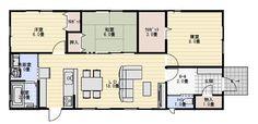 26坪3LDKローコスト住宅の平屋の間取り | 平屋間取り House Plans, Floor Plans, Flooring, How To Plan, Interior Design, Living Spaces, Home, Architecture, House