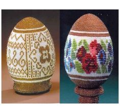 Patterns for Russian beaded eggs.