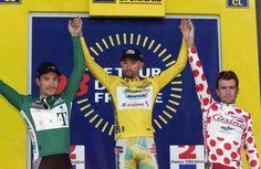 Le tre maglie del Tour 1998