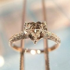 """Chocolate diamond heart ring.""    Uploaded by Phoebe Thelma Lou"