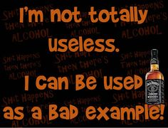 I'm not totally useless. Alcohol Quotes, Humor, Shit Happens, Humour, Funny Photos, Funny Humor, Comedy, Lifting Humor, Jokes