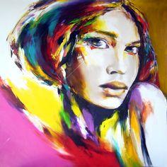 portrait-en-couleur - Peinture ©2014 par Christian Vey -