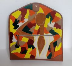 Hand Painted Canvas Clutch by nvartewear2 on Etsy, $125.00