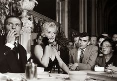 "Marilyn Monroe & Laurence Olivier at a Press Conference at the Plaza Hotel, 1956   A collection of old pictures of Marilyn Monroe and Laurence Olivier at a press conference for ""The Prince and the Showgirl"" in 1956."