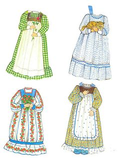 the ginghams paper dolls by sydandgoose, via Flickr Ginghams Paper Dolls /\ ...........•❤° Nims °❤•